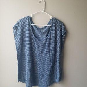 Universal Thread Striped Nautical Scoopneck Shirt